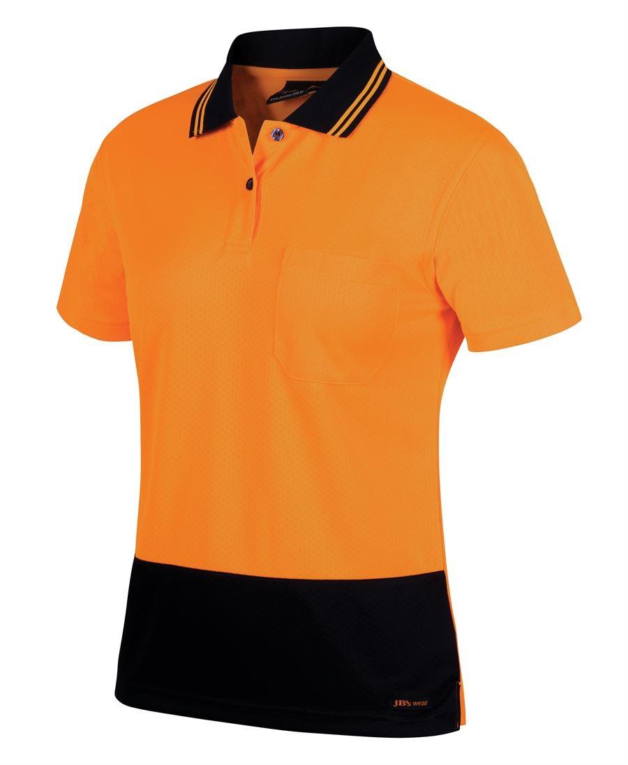 Hi Vis Ladies S/S Jacquard Polo
